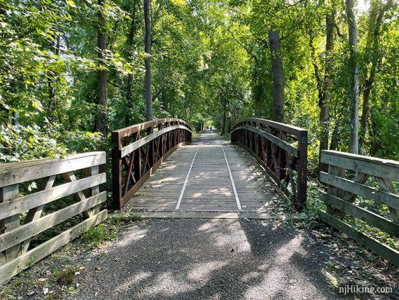 Arched bridge on a rail trail
