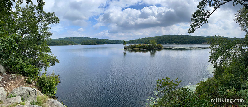 Ramapo Lake with hills in the background