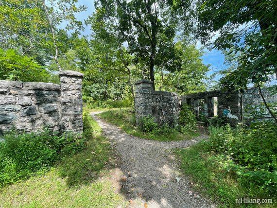 Van Slyke Castle stone fence and gate