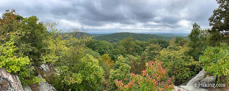 Panoramic view from Ilgenstein Rock