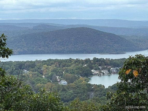 Wanaque Reservoir with mountains behind it